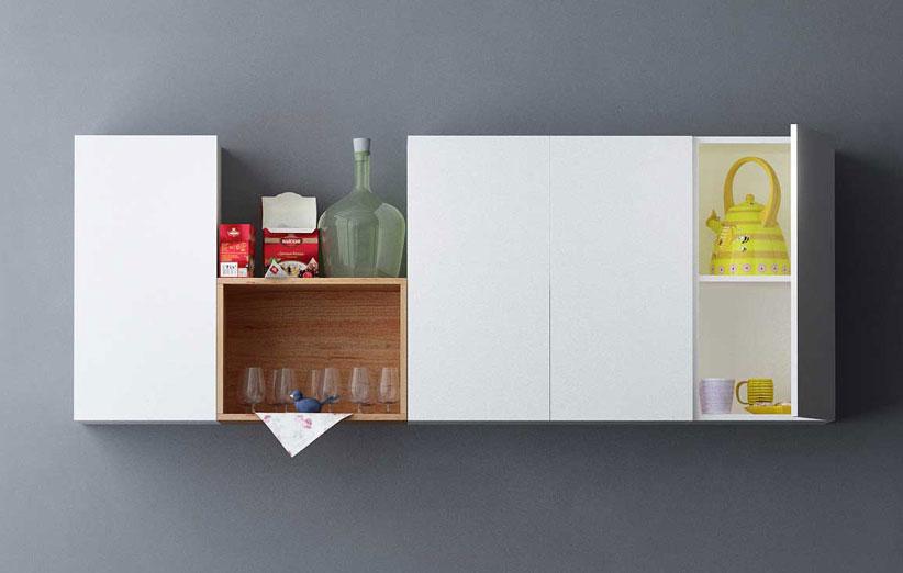 تصویر کابینت آشپزخانه مدرن با باکس ماکس