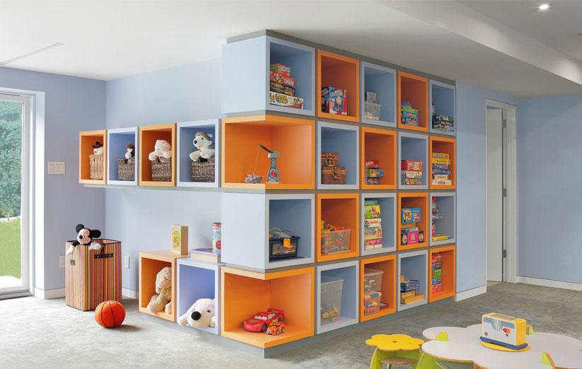 عکس باکس های دیواری در اتاق کودک
