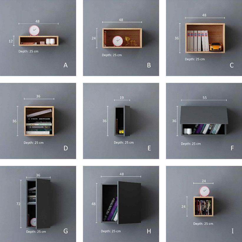 تصویر 9 باکس دیواری تکی باکسماکس