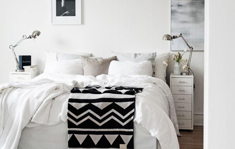 تصویر برای دیزاین اتاق خواب کوچک