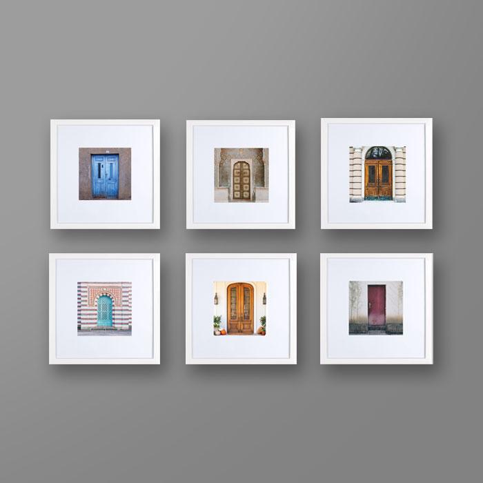 تصویر ست ششتایی قاب عکس دیواری درب