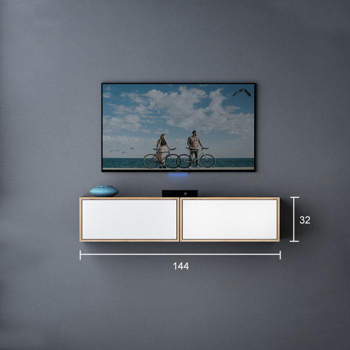 تصویر میز تلویزیون دیواری ابعاد