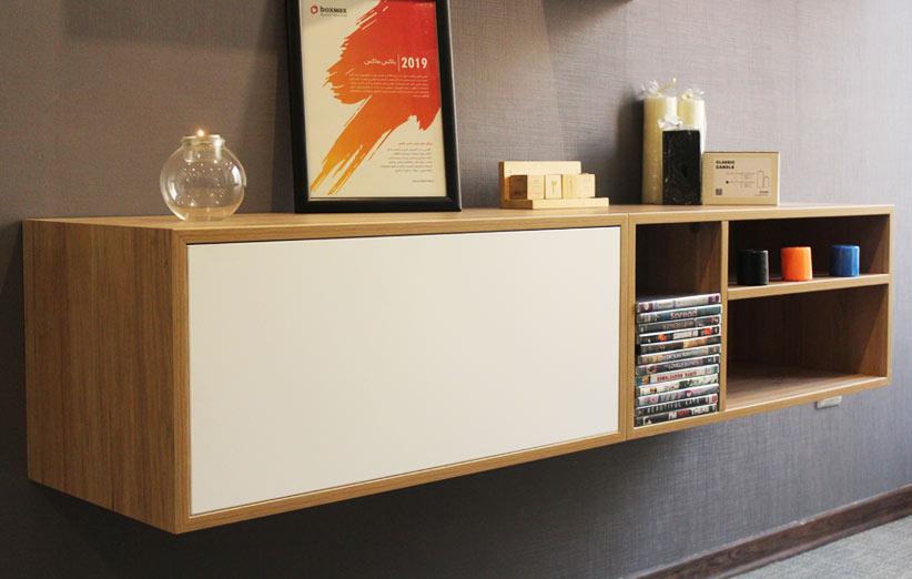 تصویر میز تلویزیون دیواری باکسماکس