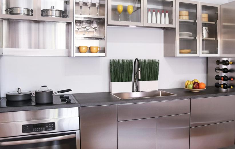 کابینت آشپزخانه استیل