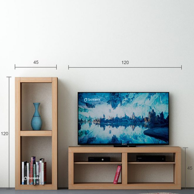 میز تلویزیون ساده زمینی