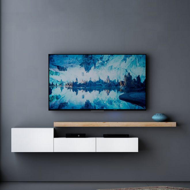 میز تلویزیون دیواری ساده و شیک