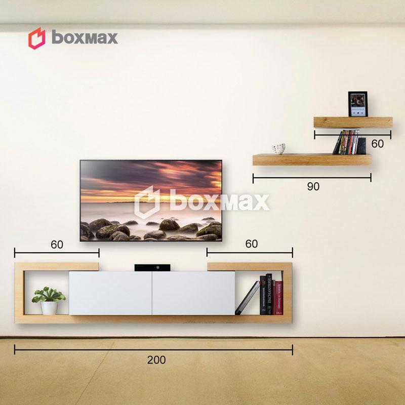 میز تلویزیون و شلف دیواری
