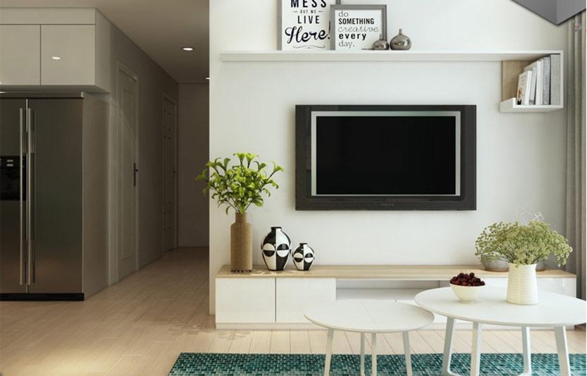 وسایل تزئینی کنار تلویزیون