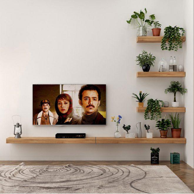 دکور دیواری تلویزیون مدل مارینا