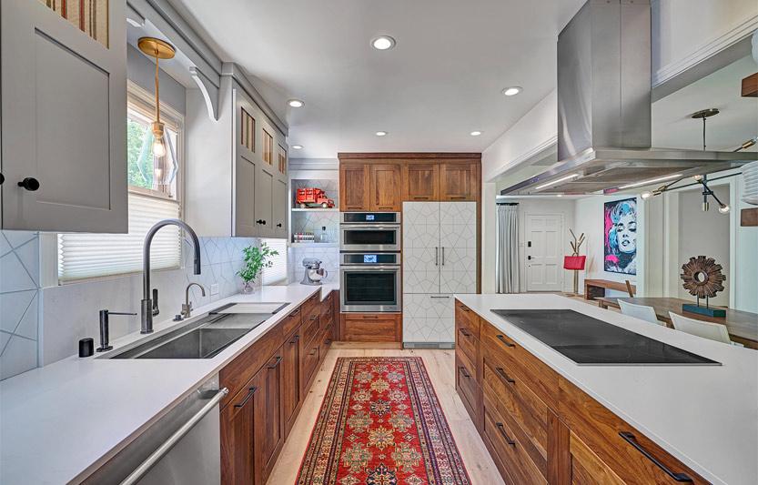 بزرگتر نشان دادن آشپزخانه