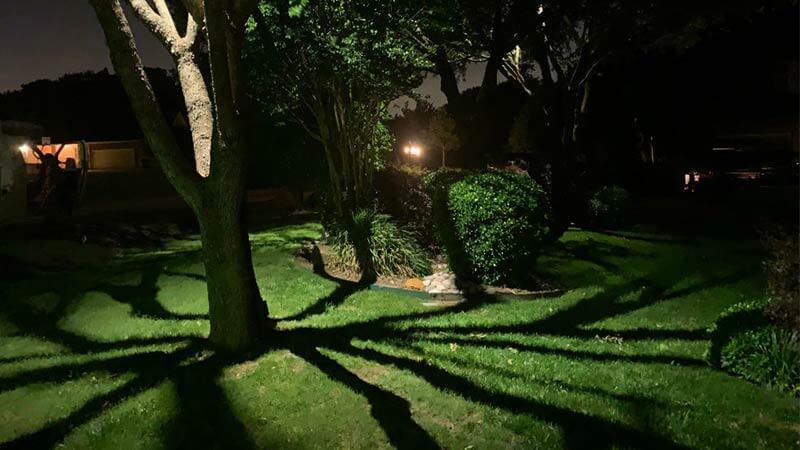 نورپردازی محوطه سایه ای